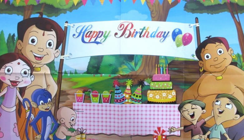 Chotta Bheem Themed Birthday Party for Boys & Girls